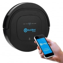 (Manufacturer Refurbished) ROLLIBOT GENIUS BL800  Robotic Vacuum Cleaner- Vacuums, Sweeps, and Wet Mops Hard Surfaces and Carpet