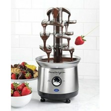 Chocolate Fondue Fountain Stainless Steel 2-Pound 4 Cascading Tiers Auger-Style