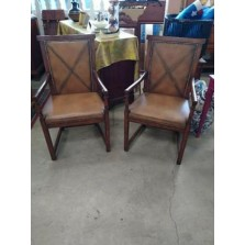 2 GORGEOUS  LEATHER SITTING CHAIRS ACQUISITIONS COLLECTION