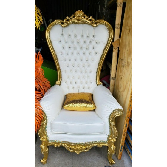 Throne chair  gold and .