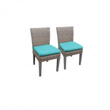 2 Florence Armless Dining Chairs in Aruba