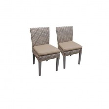 2 Florence Armless Dining Chairs in Wheat