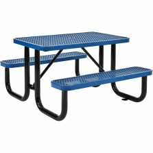 4' Rectangular Expanded Metal Picnic Table, 48