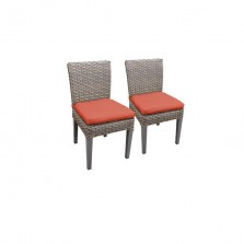 2 Florence Armless Dining Chairs in Tangerine