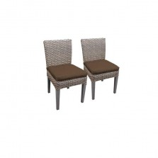 2 Florence Armless Dining Chairs in Cocoa
