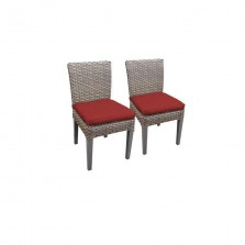 2 Florence Armless Dining Chairs in Terracotta