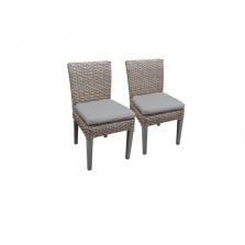 2 Florence Armless Dining Chairs in Grey