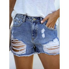 Women's Je s Straight Solid Letter Mid Waist Daily Casual Short Je s