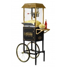 Nostalgia CCP1000BLK Vintage 10-Oz. Commercial Popcorn Cart - 59 Inches Tall