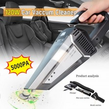 120W 5000PA Rechargeable Cordless Handheld Car Home Vacuum Cleaner Portable 12V