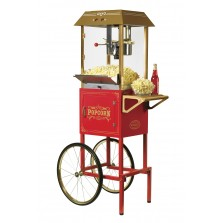 Nostalgia CCP1000RED Vintage 10-Oz. Commercial Popcorn Cart - 59 Inches Tall