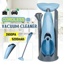 100-240V 100W Handheld Cordless Charging Vacuum Cleaner Lithium Battery Household Vacuum Cleaner Portable(White/Blue)